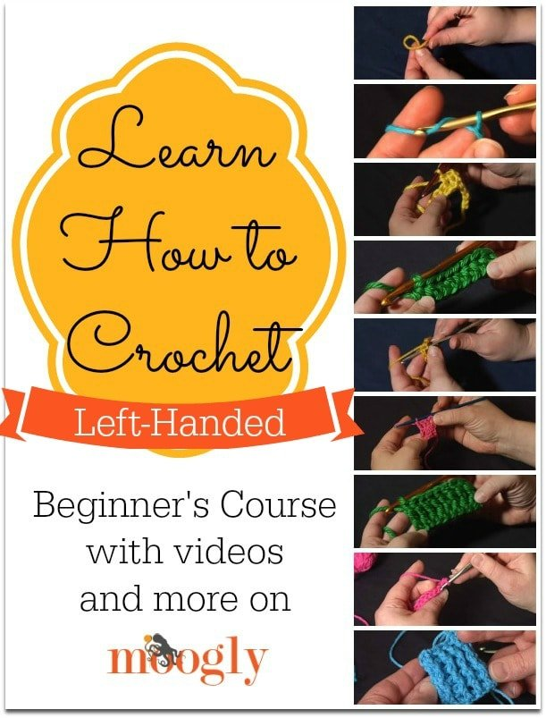 Learn How to Crochet Left-Handed. Video Tutorial Collection.