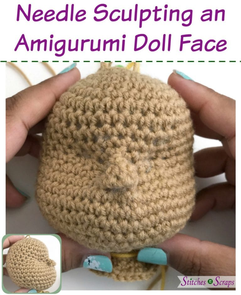 How to Needle Sculpt a Face on an Amigurumi Doll