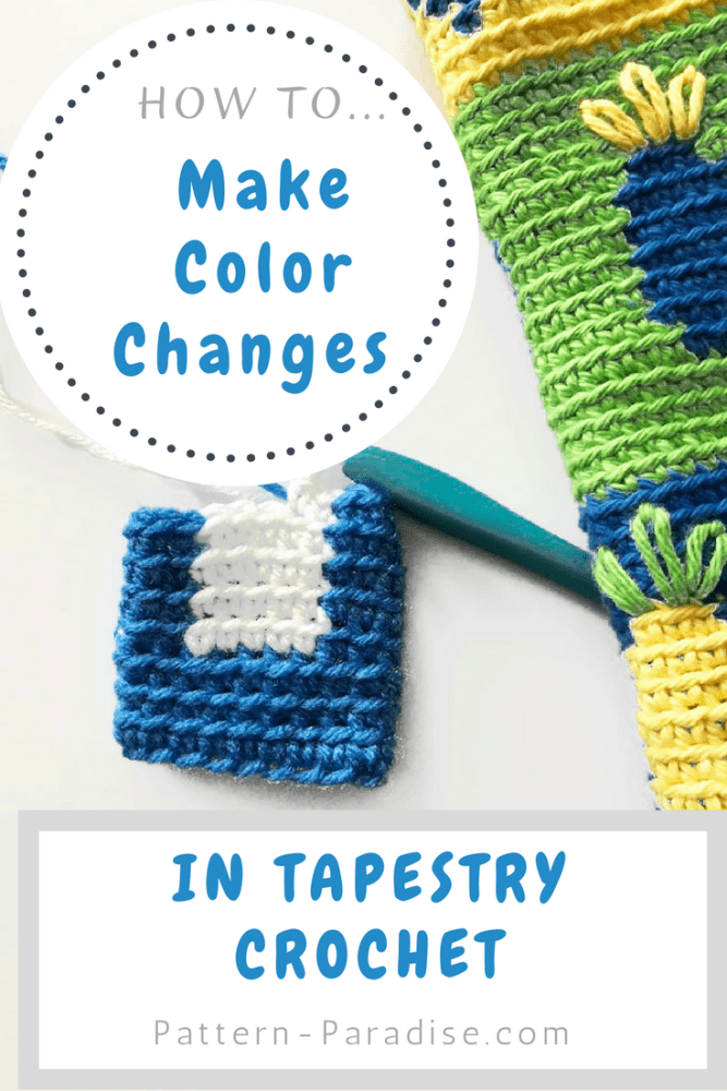Make Color Changes in Tapestry Crochet Tutorial