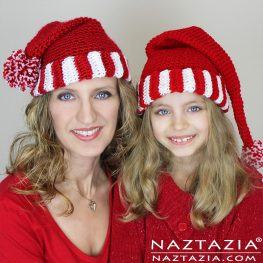 Santa Hat, Elf Hat, Pixie Hat, Beanie Hat by Naztazia