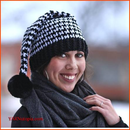 How to Crochet the Houndstooth Stocking Hat