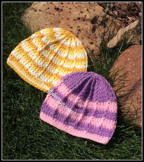 How to Crochet the Reflective Front Post Beanie Tutorial