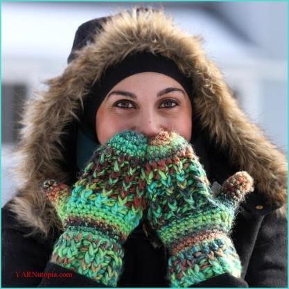 How to Crochet Nadia's Wonderfully Warm Mittens