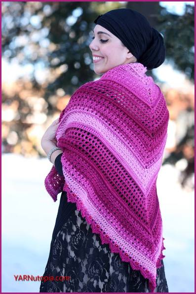How to Crochet the Wrapped in Jewels Shawl