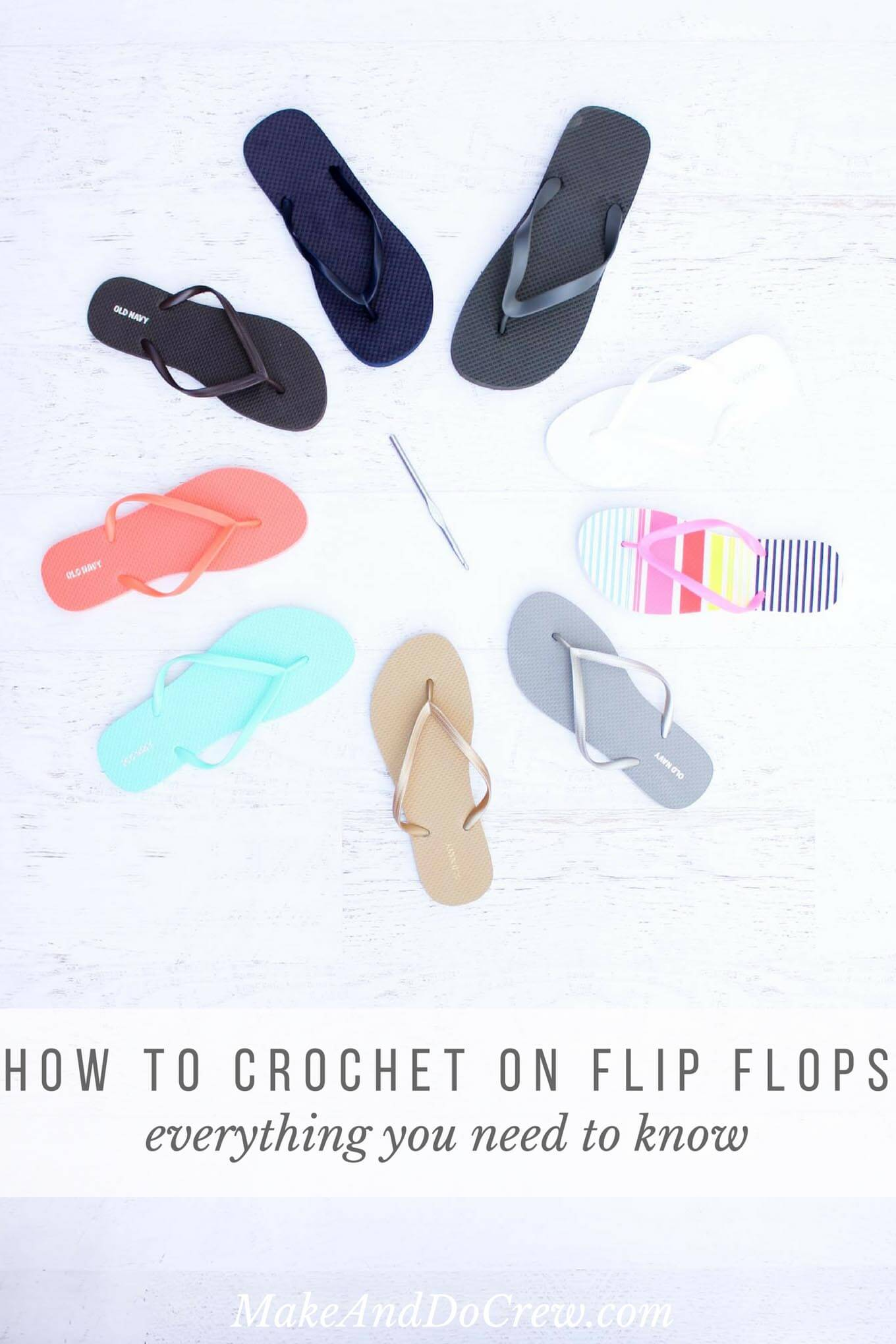 Learn How to Crochet on Flip Flops