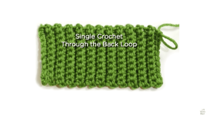 How to Crochet the BLO Ribbing Stitch Tutorial