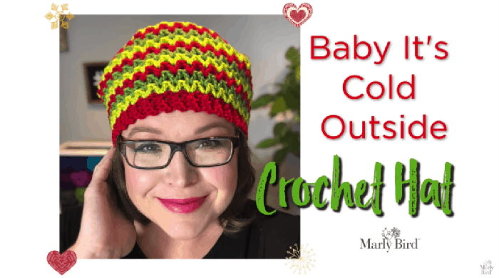 How to Crochet the Baby It's Cold Outside Hat Tutorial