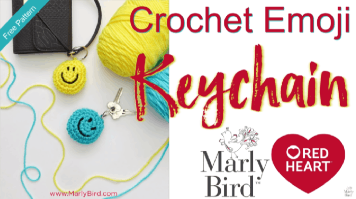 How to Crochet the Emoji Keychain Tutorial