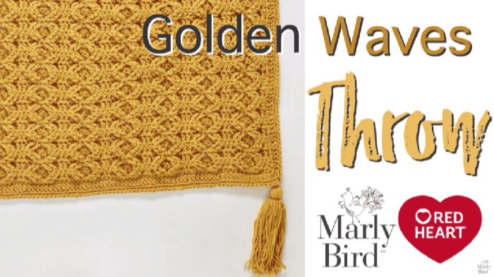 How to Crochet the Golden Waves Throw Tutorial