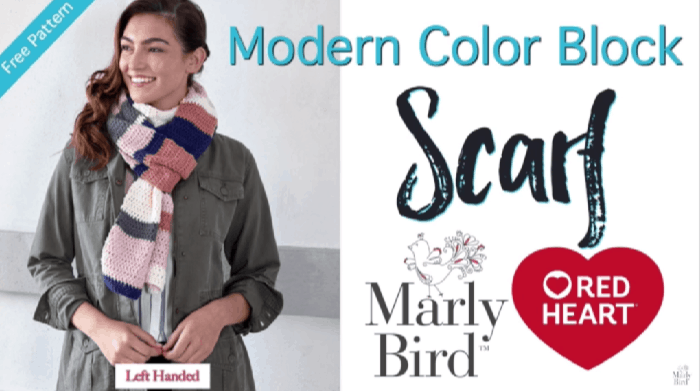 How to Crochet the Modern Color Block Tutorial