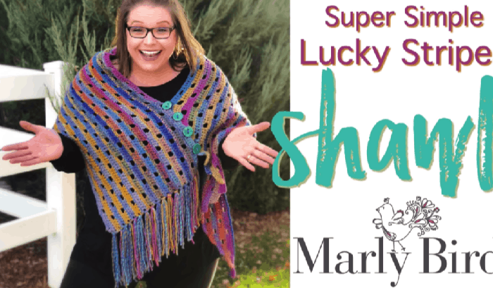 How to Crochet the Super Simple Lucky Stripes Shawl Tutorial