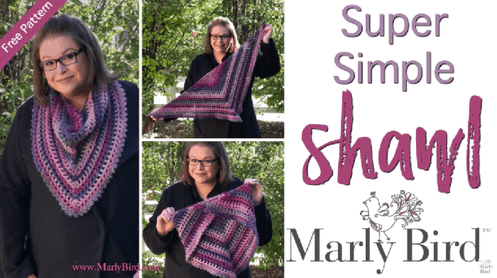 How to Crochet the Super Simple Shawl Tutorial