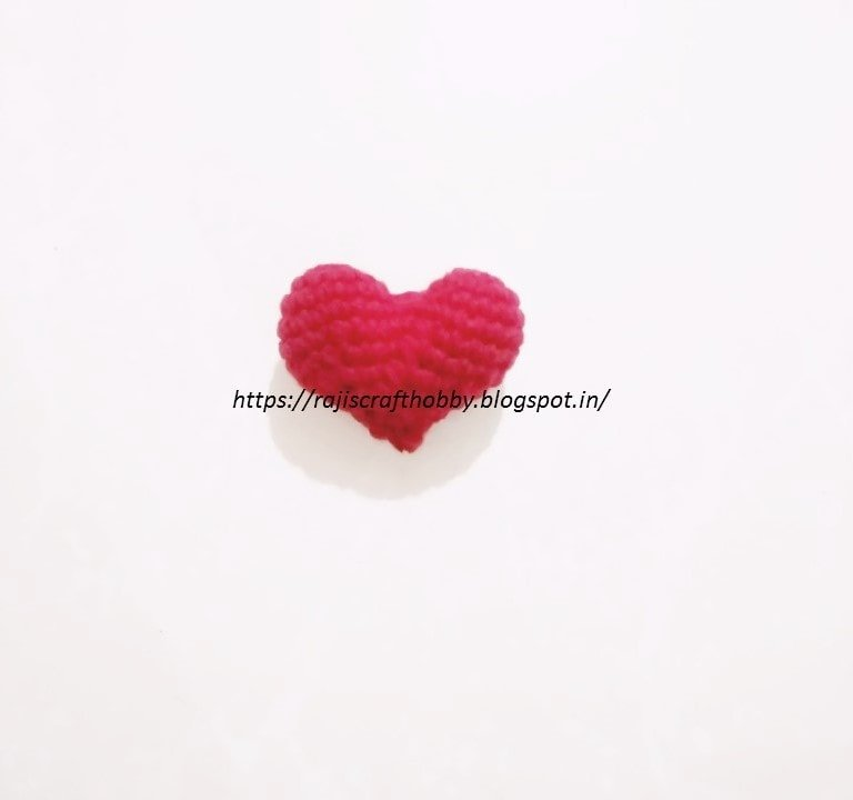 Stuffed Crochet Heart Tutorial