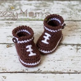Baby Football Booties from Beezy Moms Creations