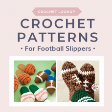 Crochet Patterns for Football Slippers Lookup at Free Crochet Tutorials FB