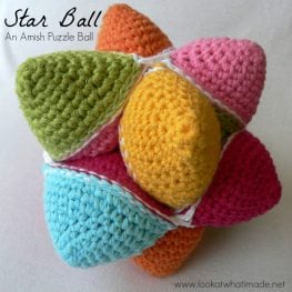 Crochet Star Puzzle Ball Pattern by Dedri Uys