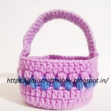 Easter Basket Crochet Pattern and Tutorial