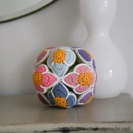 Crochet Flower Puzzle Ball by Dedri Uys