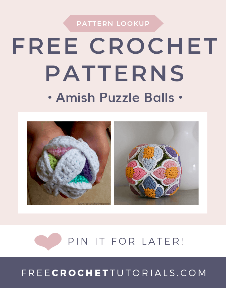 Free Crochet Pattern for Amish Puzzle Balls
