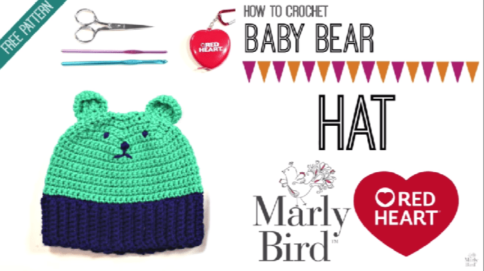 How to Crochet Bear hat with Ears