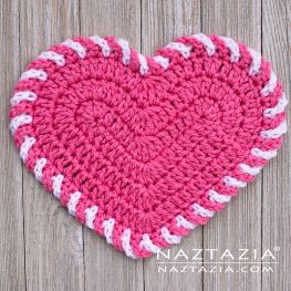 Light Heart Dishcloth by Naztazia
