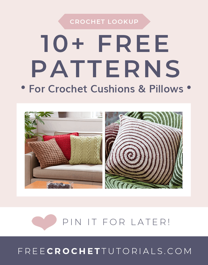 10 Free Patterns for Crochet Cushions and Pillows