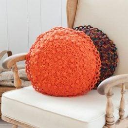 Puff Stitch Round Pillows RHY