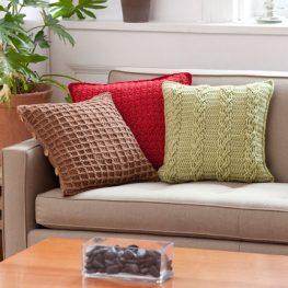 Textured Pillow Trio