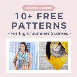 10 Free patterns for light summer scarves lookup request freecrochettutorials