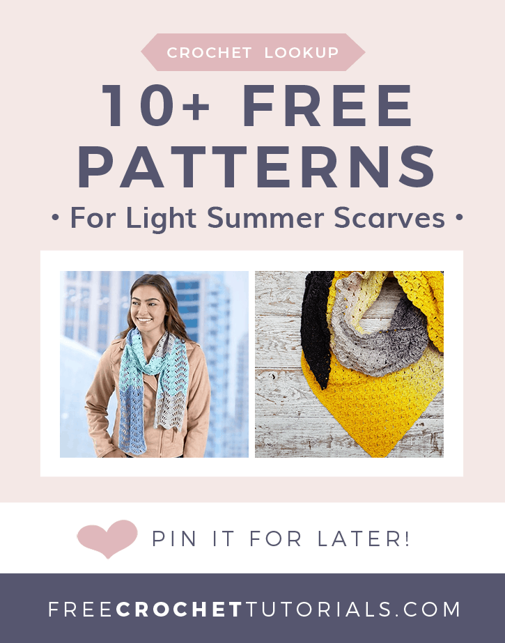 10 Free patterns for light summer scarves lookup request freecrochettutorials
