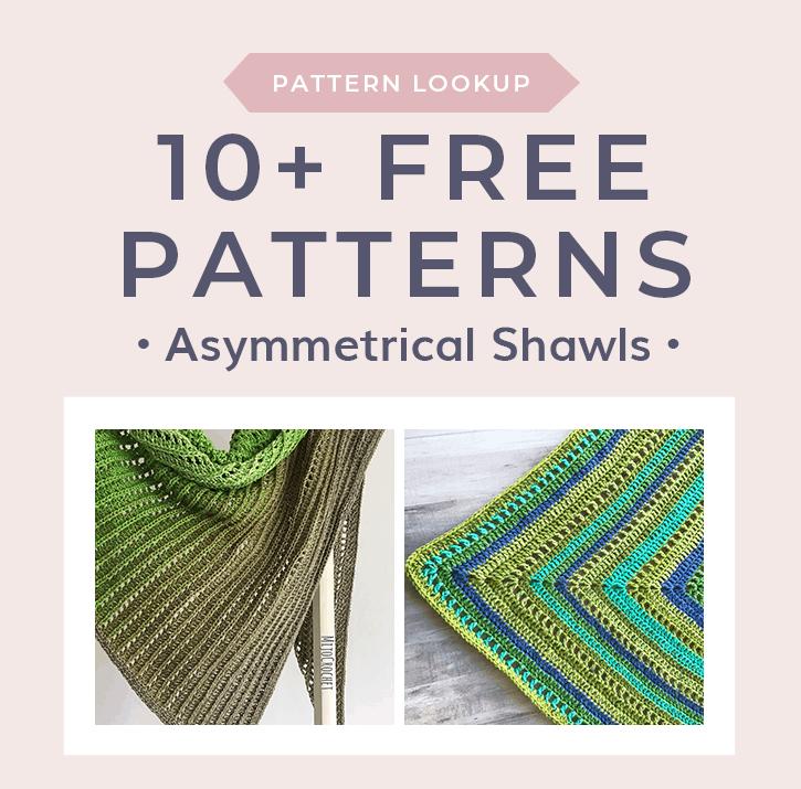 Free Patterns For Asymmetrical Crochet Shawls Free Crochet Tutorials