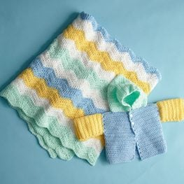 Four Color Baby Set pattern