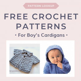 Free Crochet Patterns for Boys Cardigans in Bulky Weight Yarn FB