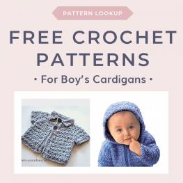 Free Crochet Patterns for Boys Cardigans in Bulky Weight Yarn FB