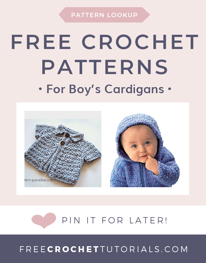 Free Crochet Patterns for Boys Cardigans in Bulky Weight Yarn