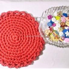 T-shirt Yarn Round Tablemat Tutorial