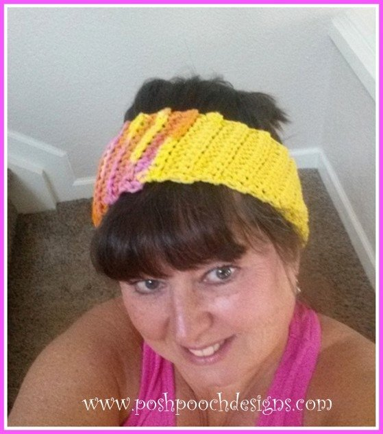 How to Crochet the Slanted Ribbed Headband