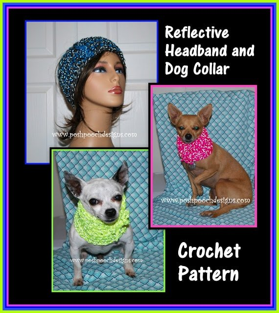 How to Crochet the Reflective Dog Collar and Human Headband