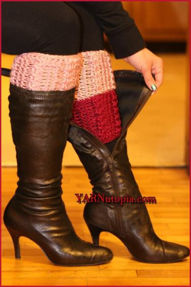 Learn How to Crochet Cable Boot Cuffs