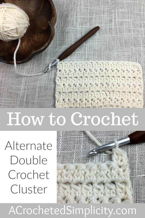 How to Crochet the Alternate Double Crochet Cluster Stitch