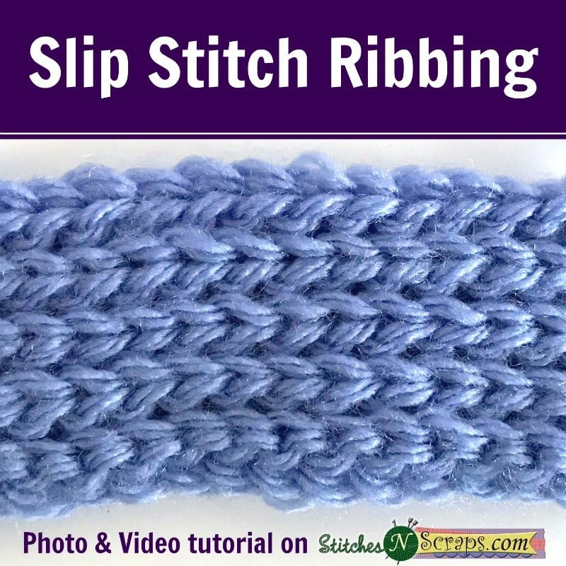Learn how to crochet slip stitch ribbing with this great photo and video tutorial.