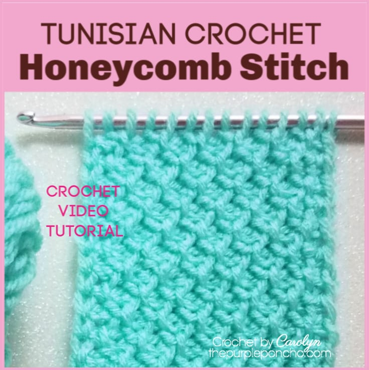 Learn To Crochet The Tunisian Honeycomb Stitch