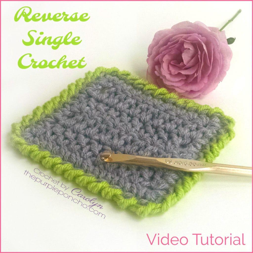 Learn To Crochet The Reverse Single Crochet Stitch