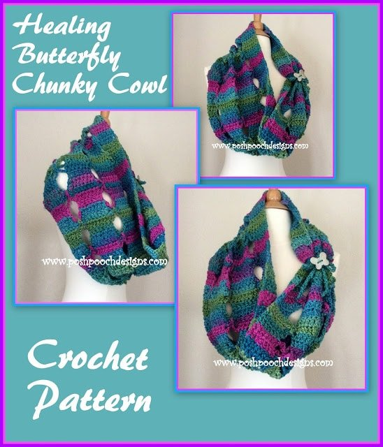 How to Crochet the Healing Butterfly Chunky Cowl