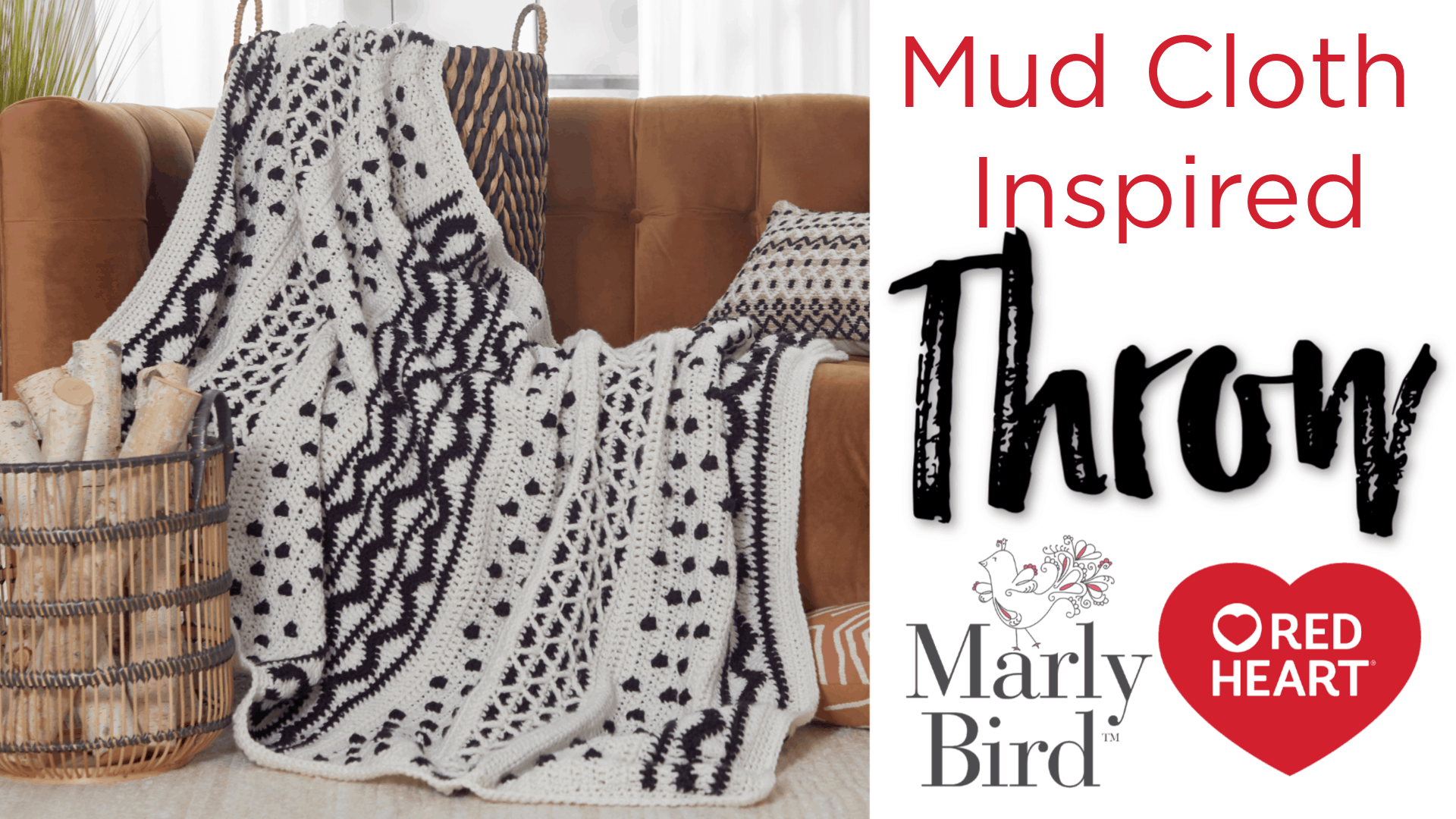 How to Crochet the Mud Cloth Inspired Blanket