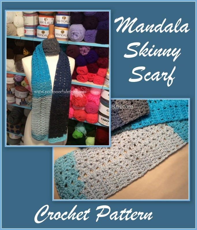 Mandala Skinny Scarf Tutorial