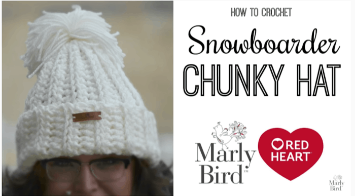 How to Crochet the Snowboard Chunky Hat Tutorial