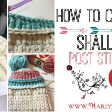 How to Crochet Shallow Post Stitches