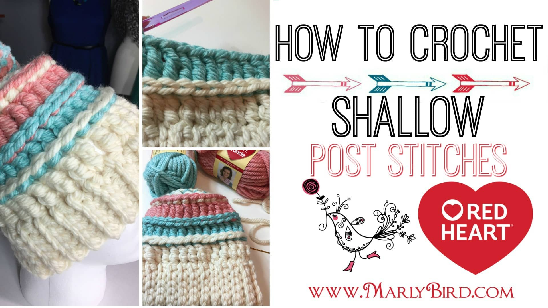 How to Crochet Shallow Post Stitches Tutorial