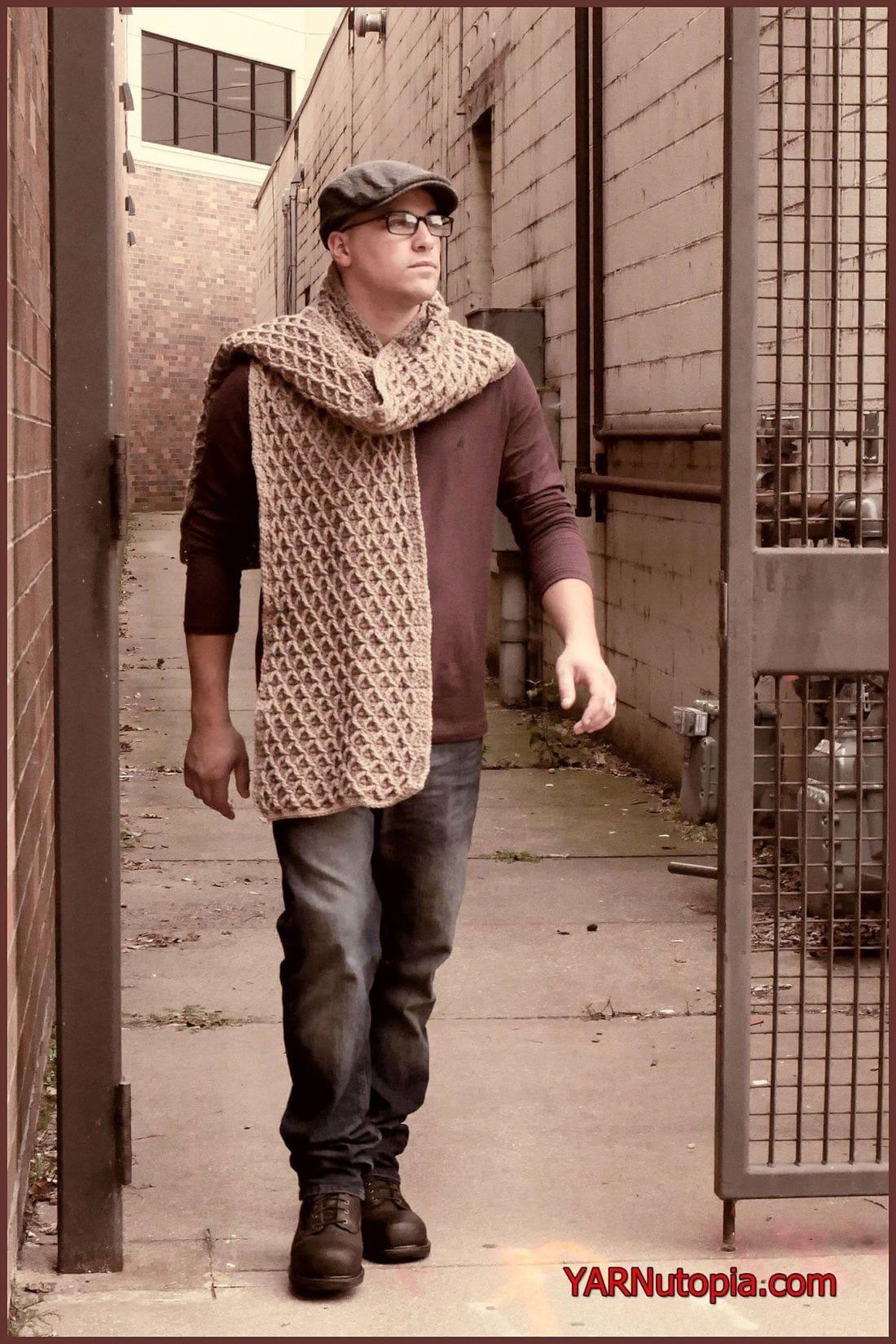 Uptown Blanket Scarf Crochet Tutorial